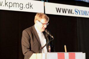 Peter Hansen med sin korte velkomst.