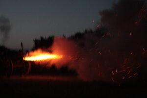 Billeder fra genopførelse af Slaget om Als.