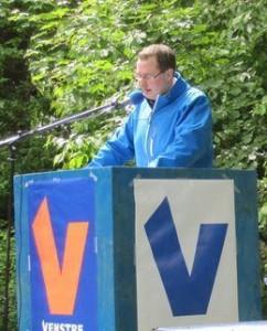 Daniel Stauggaard taler ved Grundlovsdagen sidste år.