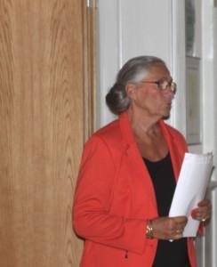 Lotte Hedels havde ordet det meste af aftenen.
