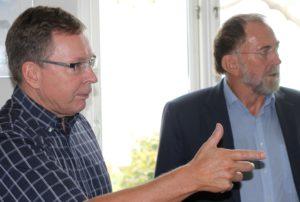 Både John Lohff og Jørn Lehman peger på de bedste løsninger for Sønderborg - og ikke på, om resultatet skal være rødt eller blåt.