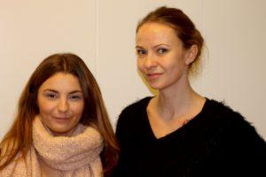 Marie og Tinna vil gerne have, at flere kender Erhvervsakademiet.