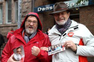 Frode Sørensen og Jørgensen fik snakket lidt om et skifte fra Socialdemokraterne til SF.