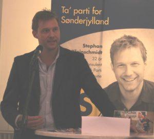 Stephan Kleinschmidt stiller op for Slesvigsk Parti og også for de Radikale.