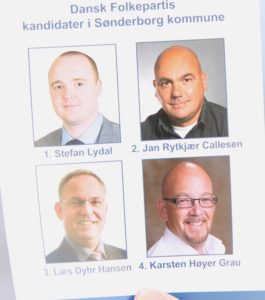 Dansk Folkeparti satser på tre af fire kandidater.