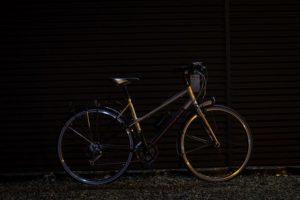 I testen lyses der på cyklen fra en afstand på 10 meter.