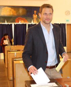 Rigtigt mange vælgere fulgte Stephan Kleinschmidts eksempel og stemte på Slesvigsk Parti.