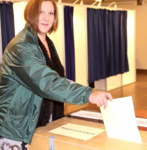 Her stemmer Trine Lindén angiveligt på Trine Lindén.