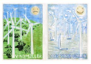 Skal vindmøllerne snurre i landskabet eller ude på havet?