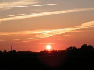 Tysk fotograf fotograferede den synkende sol.