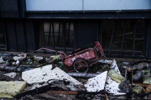 Nogen satte ild til avistraileren og startede en storbrand. Foto: Bo Bach Jensen.