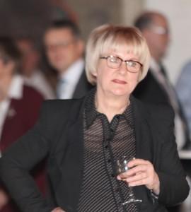 Aase Nyegaard blev tydeligt rørt under de mange taler, som fik minderne til at myldre frem.