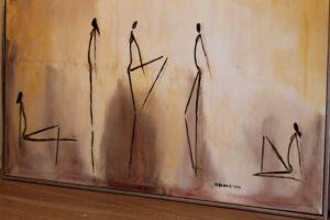 Galleriet byder på en masse malerier - de koster mange penge, men de er ikke dyre.