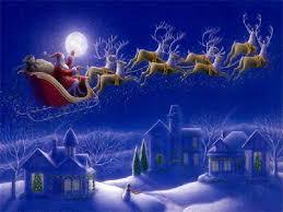 Julemanden styrer udenom alle trafikproblemer.