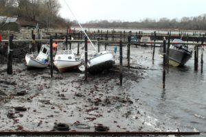 Bådene er ramt af vandmangel.