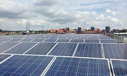 Solcellerne på Alsion.