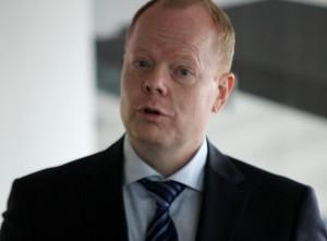 Bjarne Lykke Sørensen taler om fordelene ved at blive i Sønderborg.