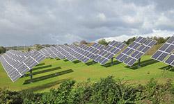 Solcelleparken ved Linak.