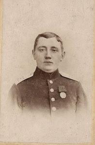 Peter Laue Petersen i uniform 1871