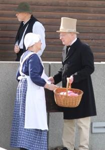 Hilmar Finsen tager afsked med sin hustru.