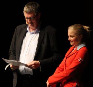 Erik Lauritzen sammen med 14-årige Helena Viller fra Sønderborg Rideklub.
