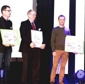 Hans J. Pedersen og Jesper Allan Hansen, Manuxa ApS, Nordborg, modtog andenpræmien, mens Rasmus Banke, Banke ApS, Battery Electric Power, Nordborg, vandt i kategorien Iværksætteri.