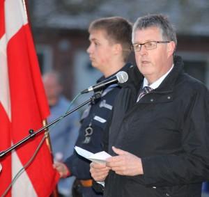 Borgmester Erik Lauritzen fortæller, at minder kæder fortid og nutid sammen.