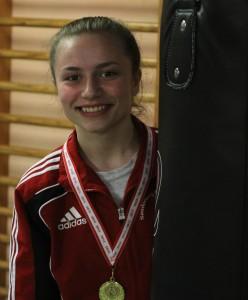 Olivia Kastrup slog sig til en flot guldmedalje.