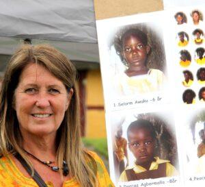 Anne Grethe Scarbach håber dagens indtægter sikrer mange ghanesere lægebehandling.