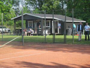 Tennisklubbens hyggelige hus.