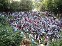 De grats koncerter i Gartnerslugten er populære.