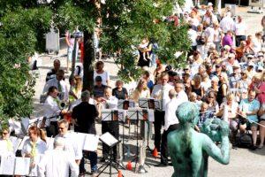 Lørdagens koncert ved Rådhuset.
