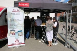 Diabetesforeningen mødte sønderborgenserne ved Broager Sparekasse.