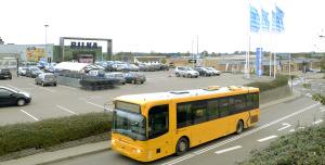 Bilka parkering og bus