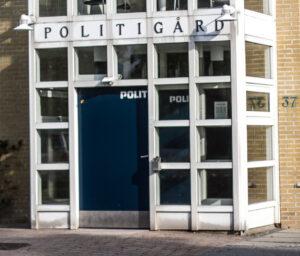 Politi - PGården indgang