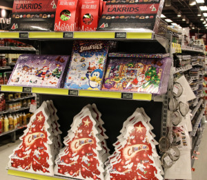 Der er rigtigt mange julekalendere med rigtig god chokolade i.