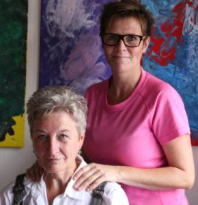 Jette Fries og Lisa Hansen glæder sig over fremskridtene.