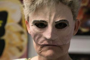 Birgit Hugger Larsen mærkede den virkning en halvmaske har. <div class=