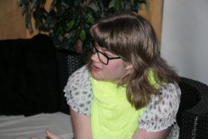 Rikke fortæller om sine Facebooksider med Dirh Passer og Ove Sprogø