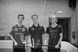 De tre trænere for børne og junior holdet. Fra venstre Laurids Thomsen, Adreas Krogh Bendixen samt Mathias Milling Stjerneholm