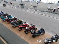 Fortovet er fyldt med motorcykler: Foto: Madelene Mosberg