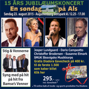 Klik på billedet og køb en god koncertoplevelse - til speciel julepris.