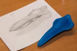 Naturligvis kan en tegning indlæses i 3D, så du kan designed for eksempel din egen nips til Amagerhylden.