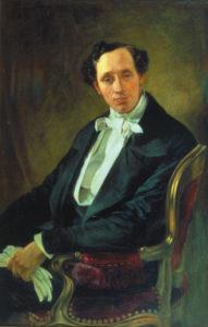 H. C. Andersen-portræt -hvem bestilte det og hvem skulle det glæde?