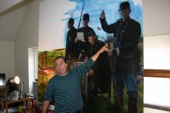René Rasmussen indvier gæsterne i lænestols-oplevelserne. <div class=