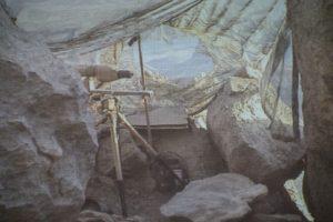 Observationspost på bjerg i Afghanistan.