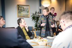 Marianne Jelved på esøg i Blans.