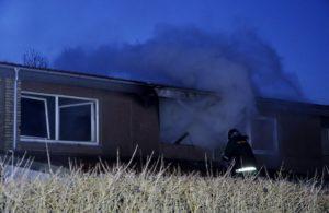 Branden på Turøvej. Foto: Per Franson, Als-Nyt.