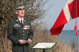 Løjtnant Leif Larsen skal holde talen. Foto: Forsvaret