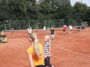 Tennis-børn i Dybbøl: Foto: Claus Klaris